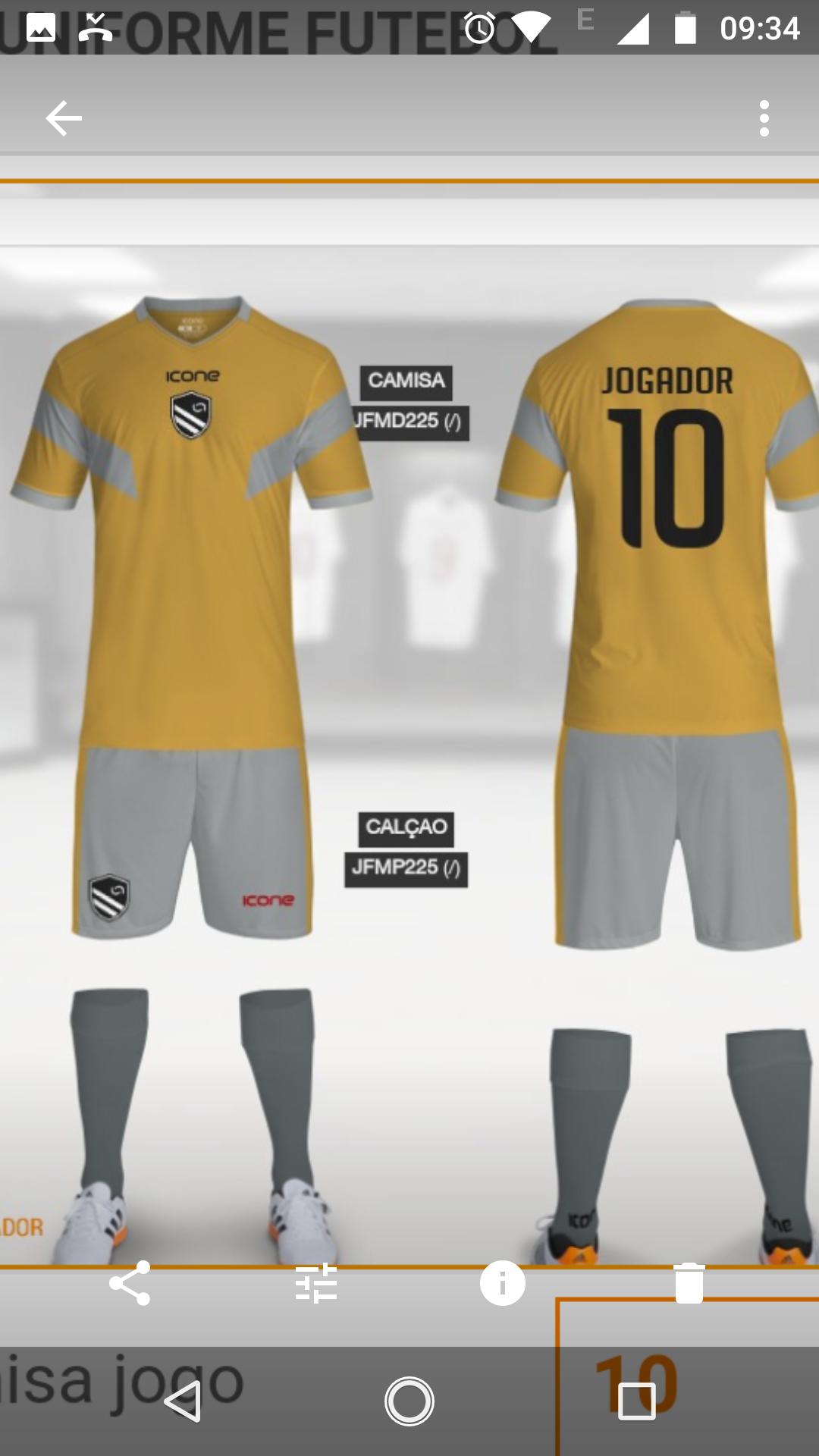 Uniforme da nova geração - Nova Geração FC